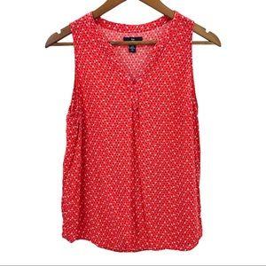 4/$30 GAP RedCoral Patterned Sleeveless Top Medium